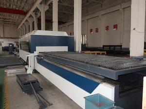 Çin yüksek verimli cnc raycus / max / ipg paslanmaz çelik lazer kesim makinesi ile fibe lase