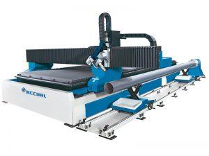 Ekonomik düşük fiyat ucuz cnc plazma alev boru tüp ile plaka kesme makinası kesici